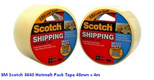 Supplier ATK Scotch 3M 3640 Hotmelt Pack Tape 48mm x 4m Harga Grosir