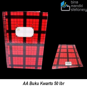Price List buku tulis AA Buku Kwarto 50 lbr grosir dan eceran dari agen ATK Jakarta