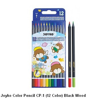 Supplier ATK Joyko Pensil Warna CP-1 (12 Warna) Black Wood Harga Grosir