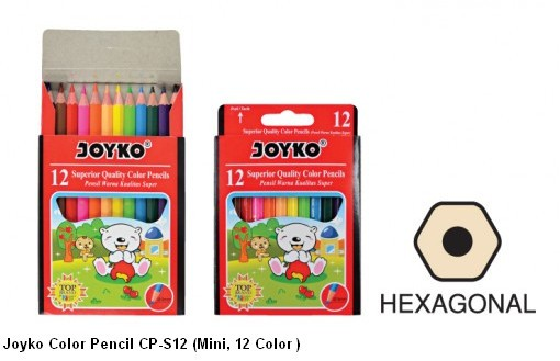 Supplier ATK Joyko Pensil Warna CP-S12 (Mini, 12 Warna) Harga Grosir
