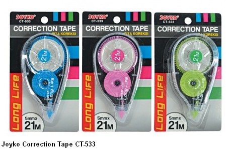 Supplier ATK Joyko Correction Tape CT-533 Harga Grosir