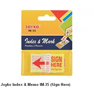 Supplier ATK Joyko Index & Memo IM-35 (Sign Here) Harga Grosir