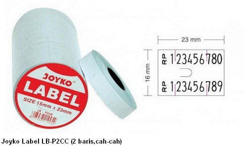 Supplier ATK Joyko Label LB-P2CC (2 Baris, Cah-cah) Harga Grosir