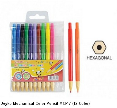 Supplier ATK Joyko Pensil Warna Mekanik MCP-7 (12 Warna) Harga Grosir
