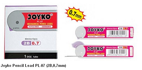 Supplier ATK Joyko Isi Pensil Mekanik PL-07 (2B, 0.7mm) Harga Grosir