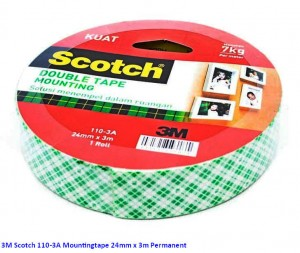 Supplier ATK Scotch 3M 110-3A Mountingtape 24mm x 3m Permanent Harga Grosir