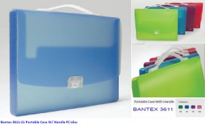Supplier ATK Bantex 3611-21 Portable Case W/ Handle FC Lilac Harga Grosir
